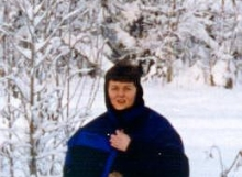 Ruth takes a walk in snowy Fairbanks, Alaska